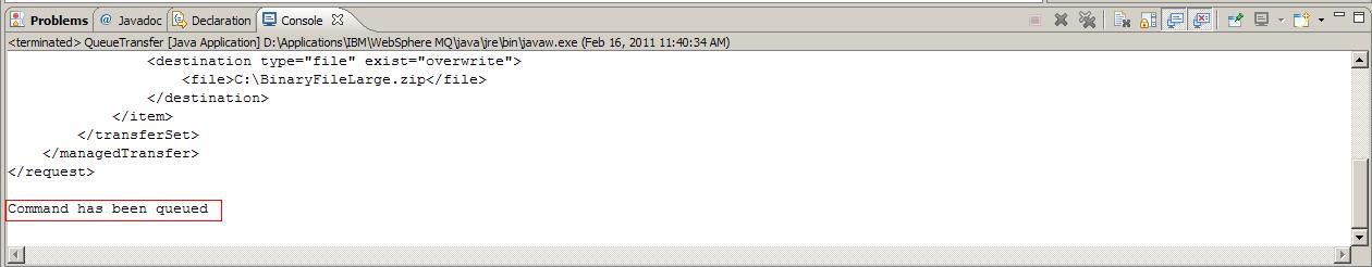 Websphere MQ File Transfer Java/JAXB file transfer | Thys